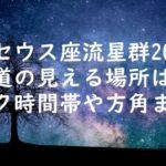 ペルセウス座流星群2020北海道